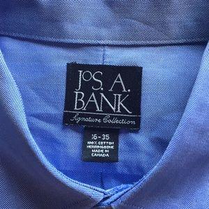 Jos A. Bank Shirts - JOS A. Bank blue pinpoint dress shirt